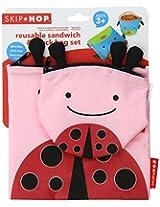 Skip hop Zoo Snack Pack Set - Ladybug (Pink/Red/Black)