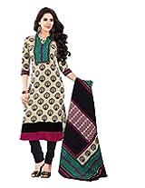 JAVULI pure cotton salwar suit dress material : K-4623