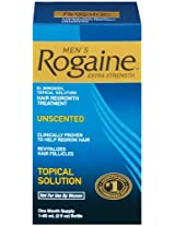 Rogaine Men Hair Regrowth Treatment Extra Strength Topical Solution, 2oz
