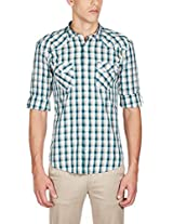 GHPC Men's 100% Cotton Casual Shirt(CS62523_42_Blue)