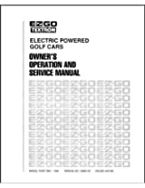 E-Z-GO 19968G1 1984-1986 Owner's Operator and Service Manual For Electric Golf Car