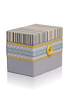 Molly West Prince - Hinged Box, Blue/Yellow