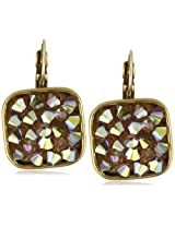 "Liz Palacios ""Arco Iris"" Swarovski Elements Droozy Crystal Earrings"