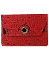 Stylabs Tablet Book Flip Case Cover For Samsung Galaxy Tab 2 P3100 (Universal) - Dark Red Cover