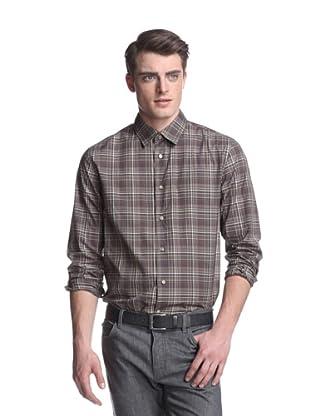 John Varvatos Collection Men's Slim Fit Shirt (Mocha)
