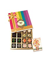 Sweet Admire With Best Birthday Wishes Card - Chocholik Belgium Chocolates