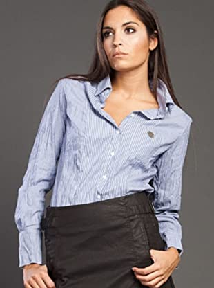 Ikks Camisa Strech (Azul)