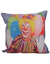 Twisha Joker Happy Printed Pillow 12 X 12 X 4 Inch