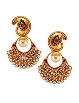Habors Gold Plated Rammira Earrings with Pearls