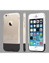"""TOTU Soft Color Series Hybrid Back Case for iPhone 6 4.7"""" - Black"""