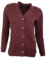 Casanova Women's Long Sleeve Cardigans (7012, Rust, L)