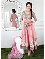 8006_baby Pink Gorgeous Anarkali Salwar Suits