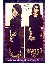 Shree Fashion Woman's Net With Dupatta [Shree (58)_Black]