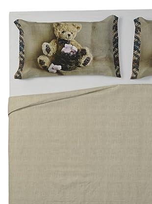 Ipersan Parure copripiumino fotografico Fine-Art Disegno Funny Bear (beige/marrone)