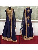 Shree Fashion Woman's Cotton With Dupatta [Shree (18) Blue_Blue]