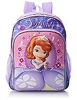 Disney Little Girls' Sophia The First 3D Eva Molded Backpack, Pink/Purple, 16x12x5