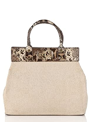 Love Moschino Handtasche Lino Luxury (Natur/Gold)
