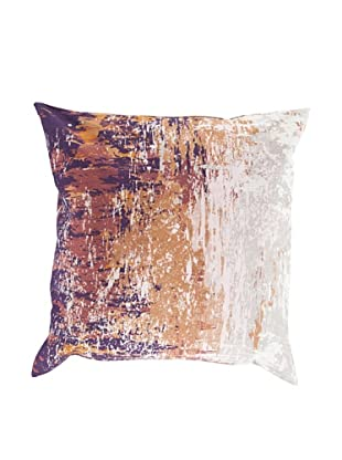 Surya Watercolor-Inspired Throw Pillow (Barely Pink)