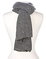 Noble Mount Mens Houndstooth Winter Scarf - Gray/Black