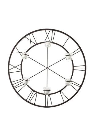 Venezia Clock Design Six Tealight Holder