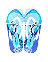 Freetoes Men's Sky Blue Flip Flops 9 UK