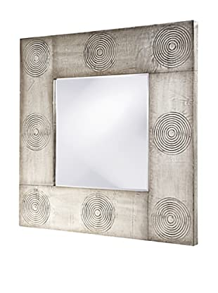 Nikko Mirror, Antique Aluminum