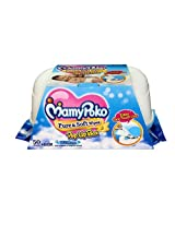 Mamy Poko Pure and Soft Fragrance Wipes Box (Dark Blue, 50 sheets) Mamy Poko