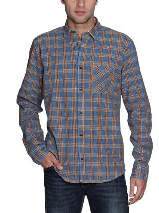 Cottonfield Hemd (Blau/Orange)