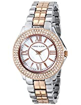 "Anne Klein Women's ""AK/1463MPRT"" Swarovski Crystal-Accented Rose Gold-Tone and Silver-Tone Bracelet Watch"