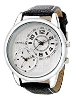 Exotica Analog White Dial Men's Watch (EF-50-Dual-LS-W)