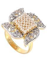 BeYou Pearl Diamond-Kundan Style Ring