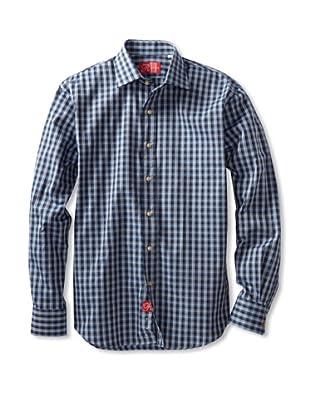 Rufus Men's Button-Up Shirt (Purple Multi Plaid)