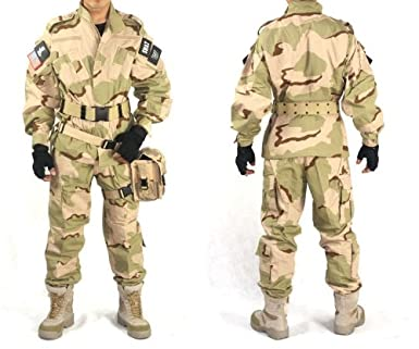 アメリカ陸軍 迷彩服 パンツ&ジャケット 上下セット 戦闘服 ミリタリー サバゲー