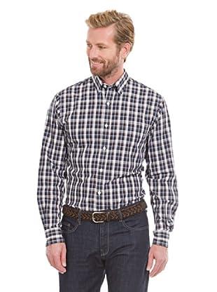 Cortefiel Camisa Cuadro Grande (Marrón Oscuro)
