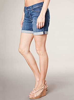 7 for all Mankind Hot Pant Mid Roll Up Adara Night (mittelblau denim)