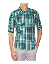 GHPC Men's 100% Cotton Casual Shirt(CS62512_40_Green)