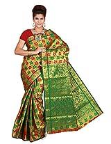 Mimosa Kanchipuram Art silk saree Multy Colour(3131-77-MAROONGREEN)