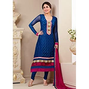 Kareena Kapoor Anarkali Blue Salwar Kameez
