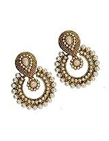Ramleela Dangle Earring with an Ethnic Look (Pearl)