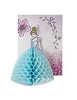 Meri Meri Disney Princess Cinderella Honeycomb Invitations And Envelopes, 8 Count