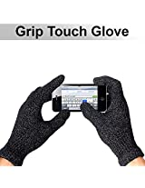 Grip Touchscreen Texting Gloves for iPhone/Smartphone: Soft Interior Padding for Luxurious Warm Feel-Unisex Fit for Men and Women-Secure Grip Texting-Whole Glove Touchscreen Compatible-Satisfaction Guarantee!
