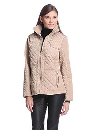 Calvin Klein Women's Quilted Jacket (Khaki)