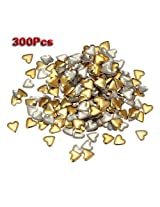 TOOGOO(R) 300x 3d Metal Alloy Gold Heart Star Nail Art Tips Design Decorations DIY