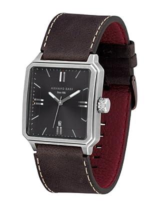 ARMAND BASI A1004G05 - Reloj de Caballero movimiento de cuarzo con correa de piel Marrón