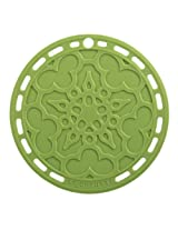 "Le Creuset Silicone 8"" Round French Trivet, Palm"