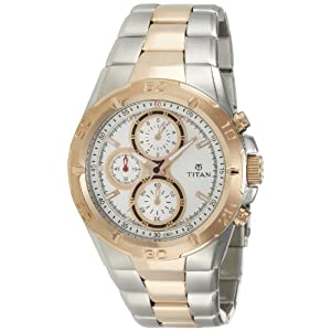 Titan Octane Chronograph Analog White Dial Men's Watch - NE9308KM01J