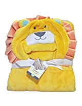 Imported CARTER'S HOODED BLANKET/WRAP from BabySid - LION LAYETTE- 77cm X 102 cm.