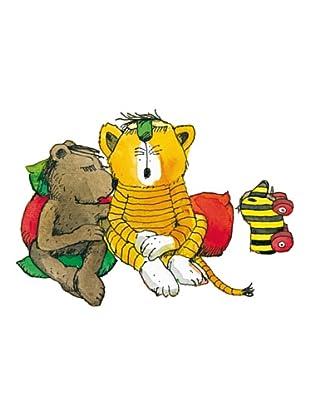 Beiwanda Kids Wandtattoo Tiger und Bär ganz gemütlich