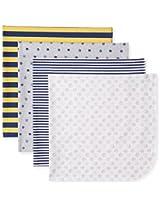 Gerber Baby-Boys Newborn 4 Pack Flannel Blanket Sports, Blue, One Size