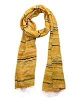 Dushaalaa Women's Scarves (10330.1_Yellow, Yellow, L x B : 71 Inches X 20 Inches)
